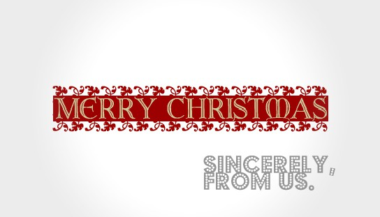 Wishing everyone a Merry Christmas and a Happy New Year!