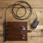 Roll-up Travel Charger – stylish multi-device charger