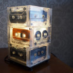 Cassette Tape Lamp with IKEA Hemma base