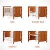 Gro Furniture 5-in-1 Companion Crib and Desk - bam b.