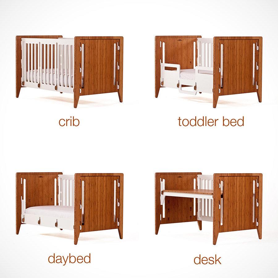 Gro Furniture 5-in-1 Companion Crib and Desk