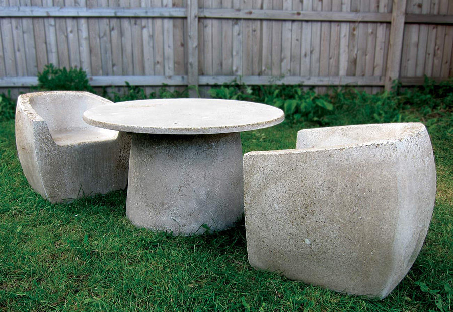 Zachary A. Design Stone Furniture - Baby Van Dyke with Hive Table