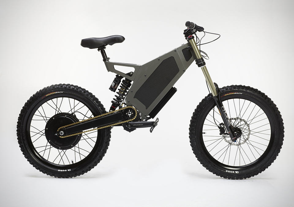 Stealth The Bomber Electric Bicycle in Camo Grey