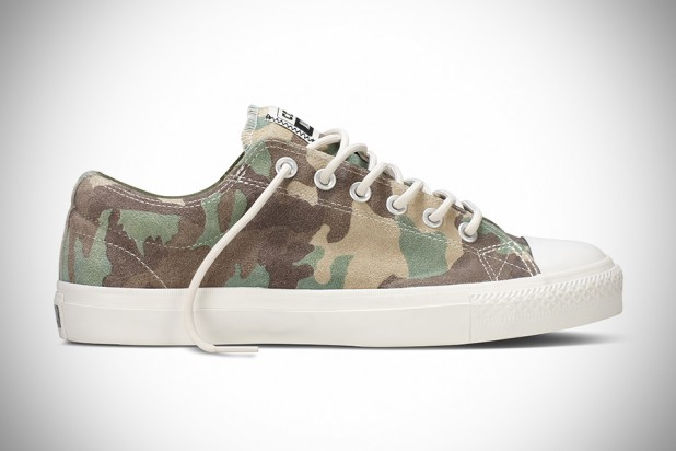 Converse Camo Suede CTS Sneakers in Woodland Camo