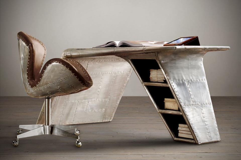 Aviator Wing Desk by Restoration Hardware