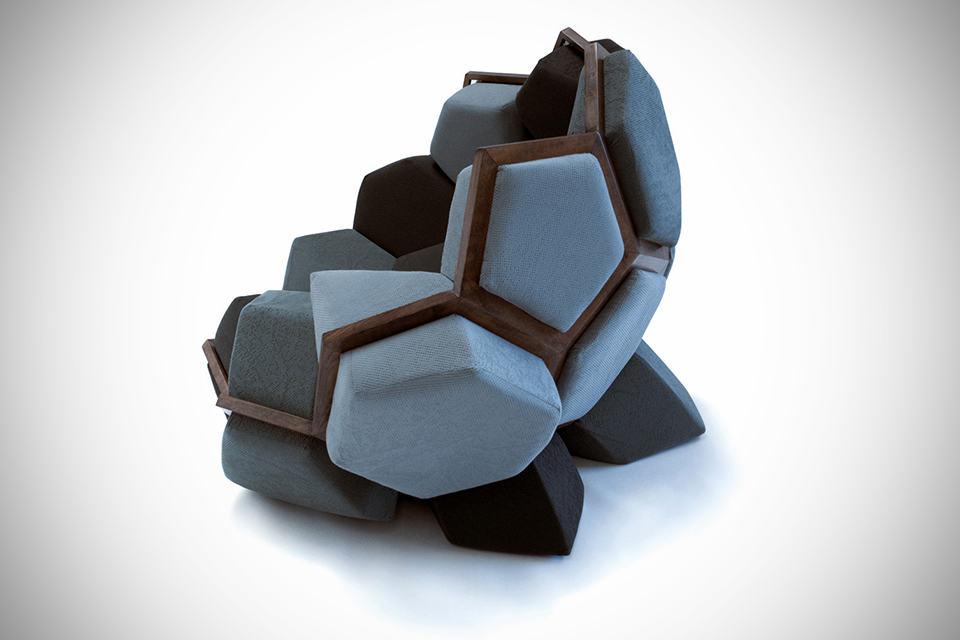 Quartz Armchair by CTRL ZAK & Davide Barzaghi