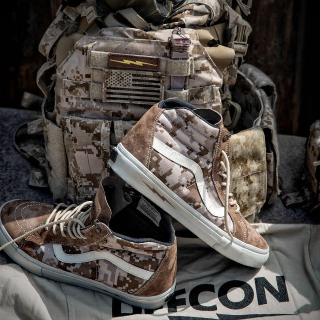 "DEFCON x Vans Syndicate Camouflage Sneakers - SK8 Hi Notchback ""S"""