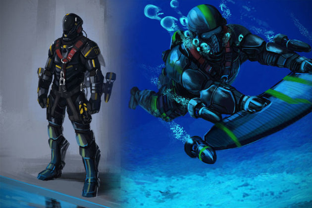 X2 Underwater Jet Pack - Concept Image
