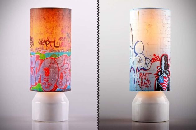 Slim - Lamp with Printed Art Shades