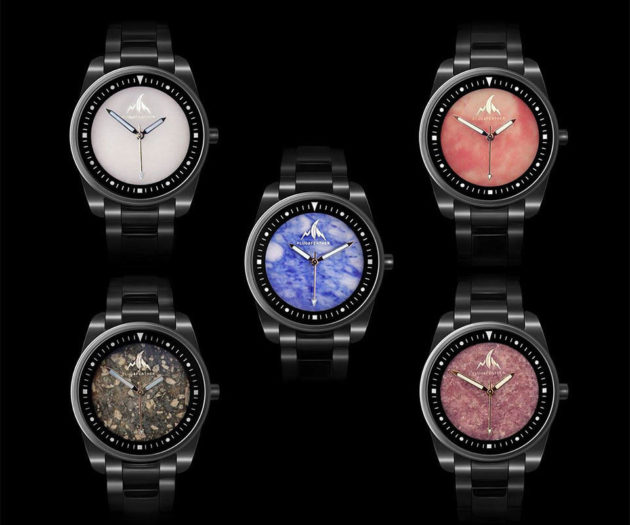 Plug & Feather Stone Face Wrist Watches