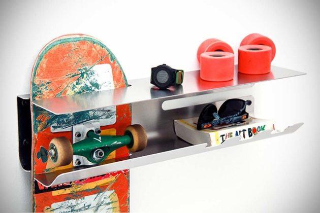 Wall Ride Skateboard Shelving