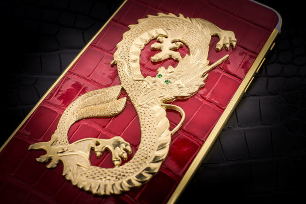 Luxury iPhone 6 by Golden Dreams - Dragon Edition Red