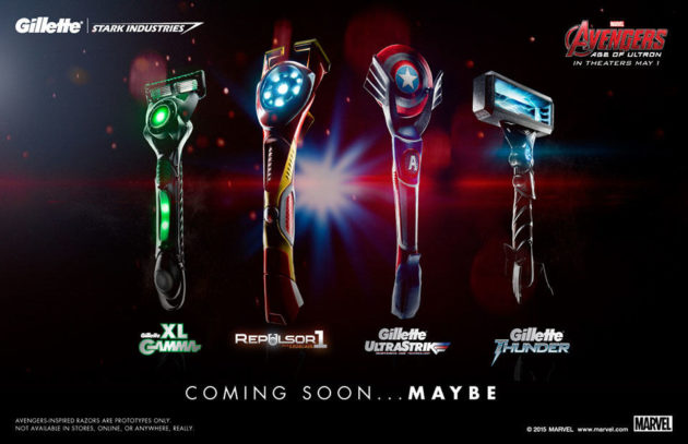 Gillette x Stark Industries Shavers