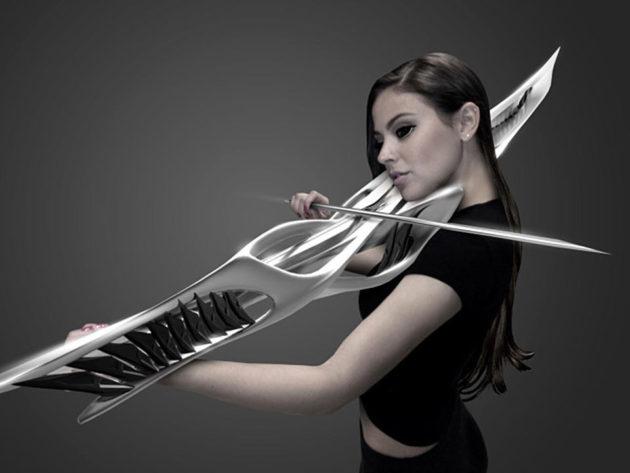 3D-Printed 2-String Piezoelectric Violin by MONAD Studio