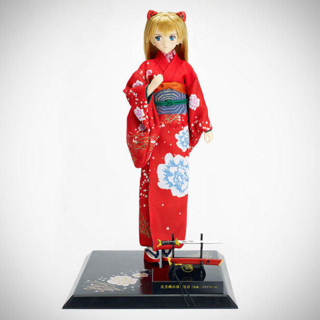 Evangelion Asuka Shikinami Langely with Japanese Sword Doll