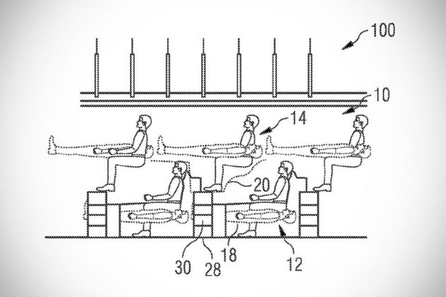 Airbus 'Mezzanine' Seating Patent