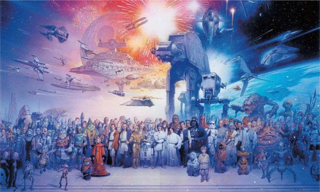 Massive Star Wars Cast Wallpaper Mural