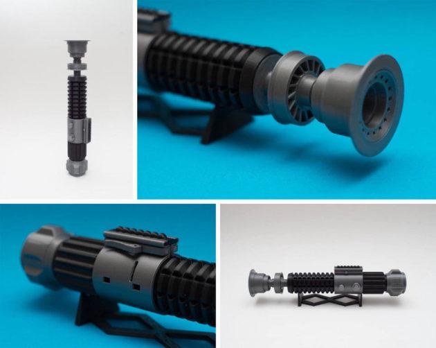 3D Printed Return of the Jedi Lightsaber
