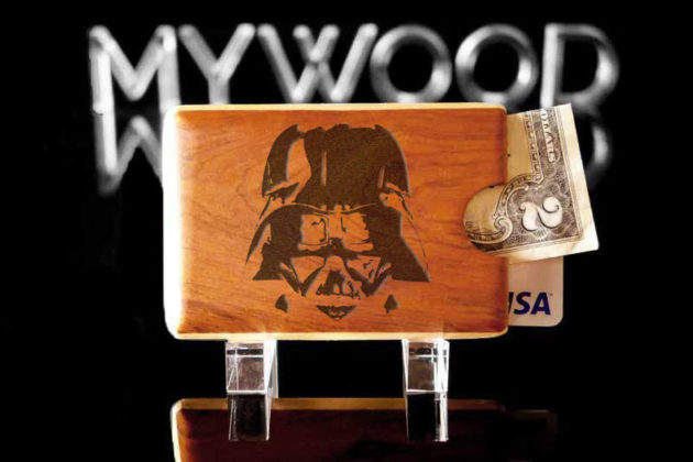 Engraved Wood Wallet by My Wood Wallets - Darth Vader