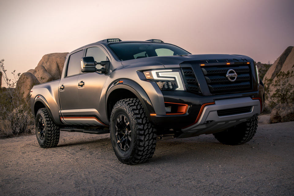 nissan titan warrior concept gets modified off