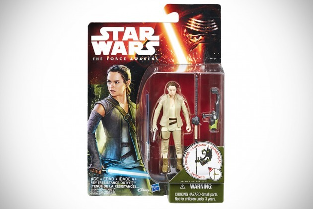 "Star Wars - The Force Awakens Toys 3.75"" Rey with Lightsaber"