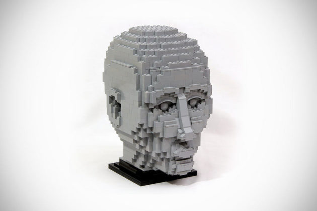 """Custom LEGO Sculpture """"The Engineer"""" by Kristal"""