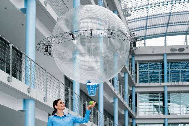 Free Motion Handling Autonomous Flying Gripper Ball by Festo