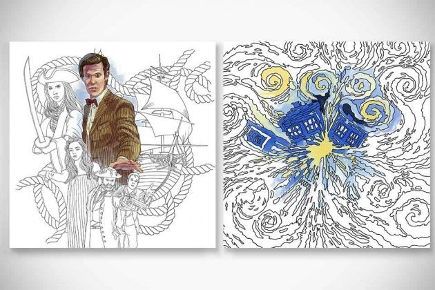 doctor who travels in time coloring book - Doctor Who Coloring Book