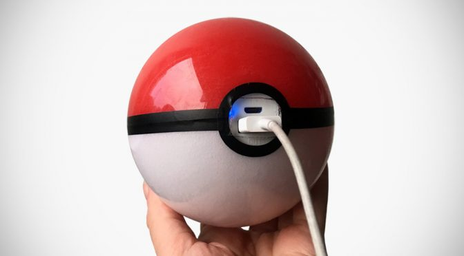 Handmade Pokéball Power Bank by Magical Superstore