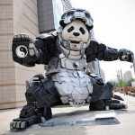 Iron Panda Is When A Panda Wears An <em>Iron Man</em> Exoskeleton Suit