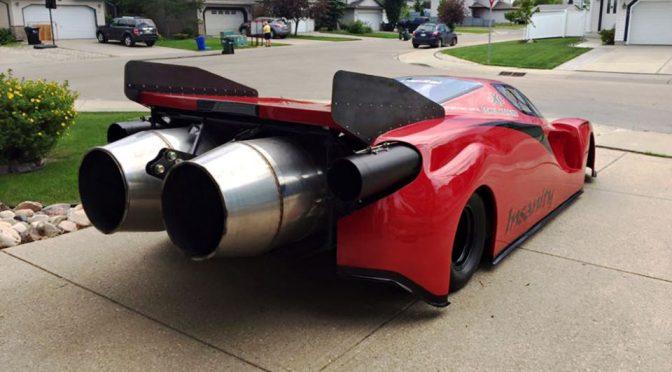 "Jet-powered Ferrari Enzo Replica ""Insanity"" Race Car"