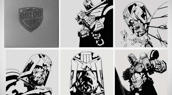 Limited Edition Judge Dredd Letterpress Set by Jock