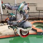 Custom <em>Sharknado</em> Water Slide For Super Fan Is Strewn With 'Bloody Limbs'