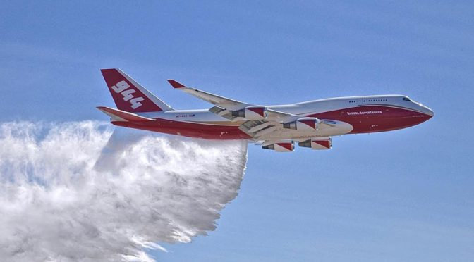 This Boeing 747 Can Drop 74K Liters Of Fire Fighting Suppressant To Fight Fire