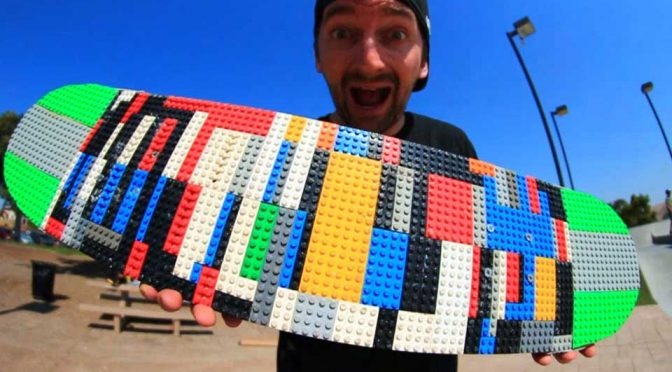 Braille Skateboard Put A Custom-made LEGO Skateboard To The Test