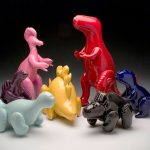 These Inflatable Dinosaur Toys Are Actually Ceramic Sculptures