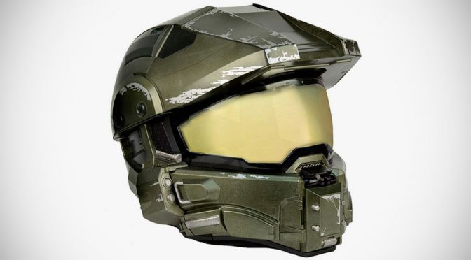 Halo Master Chief Motorcycle Helmet Replica Is Great For Halo Cosplay Too