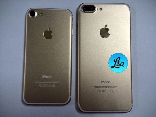 Images of iPhone 7 and iPhone 7 Plus Dummy Units