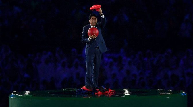 Japan Prime Minister Morphed Into Mario For Rio 2016 Closing