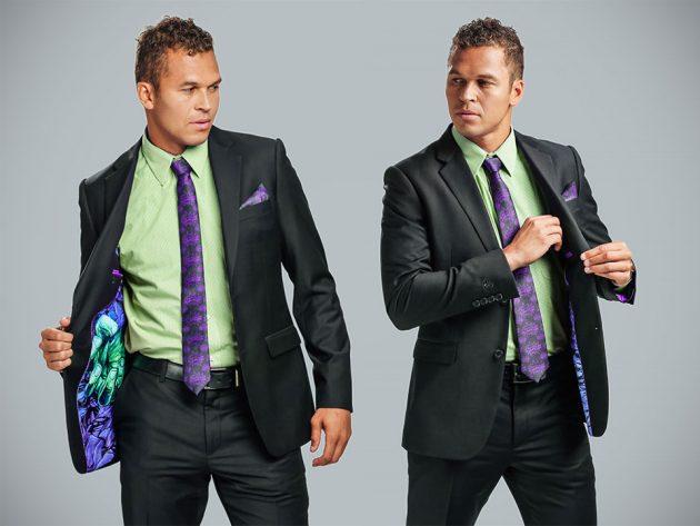 Men's Incredible Hulk Secret Identity Suit