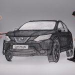 3D Pen Sculpture Of Full-sized Nissan Qashqai Is Pretty Damn Surreal