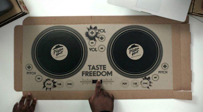 Pizza Hut UK World's First Playable DJ Pizza Box