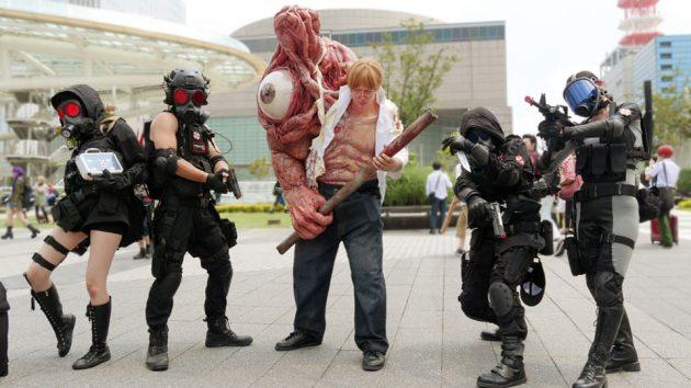 Resident Evil William Birkin Stage 1 Transformation Cosplay
