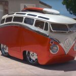 Guy Turned Classic Volkswagen Bus Into A Driveable Cartoon Bus