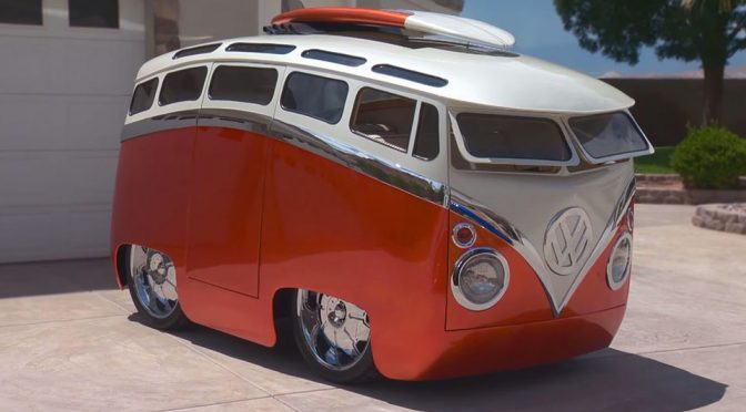 Ron Berrys Surf Seeker Custom VW Cartoon Bus