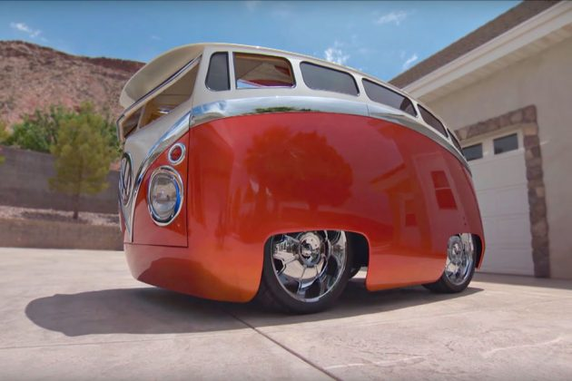 Guy turned classic volkswagen bus into a driveable cartoon for Garage volkswagen villeneuve saint georges