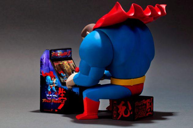 Superman Playing Arcade Vinyl Figure by Fools