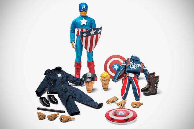 ThinkGeek Exclusive Captain America Retro Set