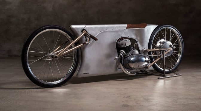 Steampunk-<em>ish</em> Jawa Sprint Motorcycle May Be The Thinnest Bike In The World