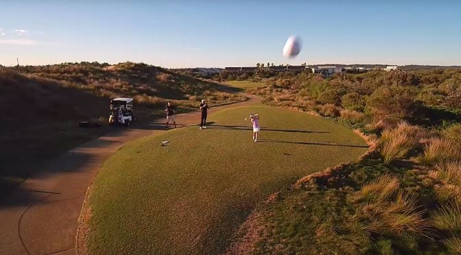 8-Year-Old Golfer's Smashing Tee Off Knocked A Drone Out Of The Sky